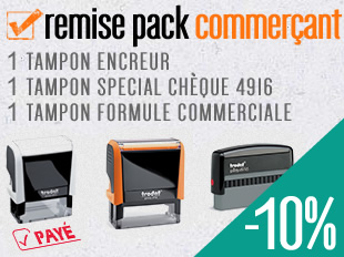 REMISE TAMPONS ENCREURS COMMERCANTS